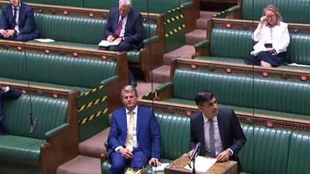 Chancellor Rishi Sunak outlined the furlough extension to the House of Commons. Picture: PA Wire
