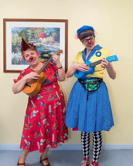 The charity regularly sends artists into hospital wards to sing, act and chat Picture: BEN JACKSON/