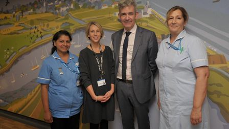Catherine Morgan, pictured second from left, was previously director of nursing at the East Suffolk
