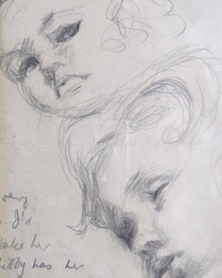 A drawing by Margaret of her daughter Kathy as a baby Picture: SUBMITTED BY FAMILY