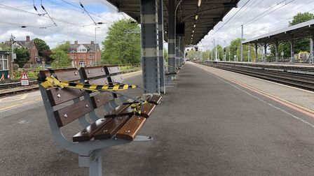 Ipswich station has been nearly deserted during the lockdown. Picture: GREATER ANGLIA