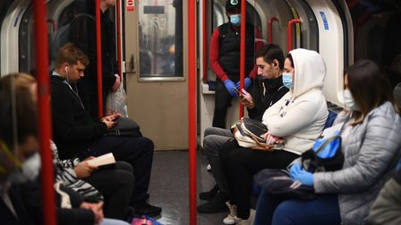 Some Tube trains were too full for social distancing. Picture: Victoria Jones/PA Wire