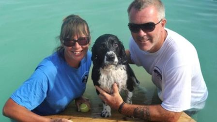 Jo Allen and her husband Andy Brownlie, who run Canine Dip and Dive together Picture: Canine Dip and