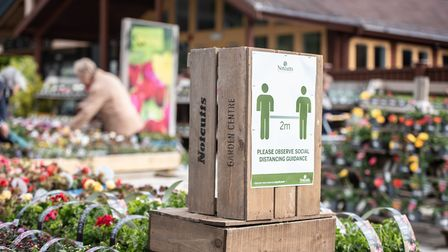 New social distancing measures have been put in place around garden centres across Suffolk and north