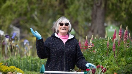 Norma Downing was glad to be back at Notcutts as it was her late husband's favourite place to visit
