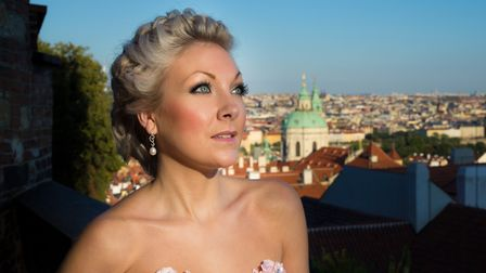 Suffolk-born opera singer Christina Johnston pictured in Prague where she was based for many yearsn
