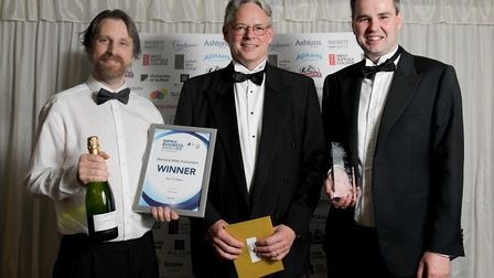 One to Watch award winners Daniel Page (left) and Oliver Miller (right) from Bishop and Miller Auct