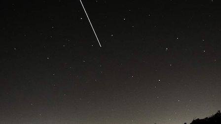 Captured over Ipswich, the International Space Station passing overhead Picture: PEREGRINE BUSH