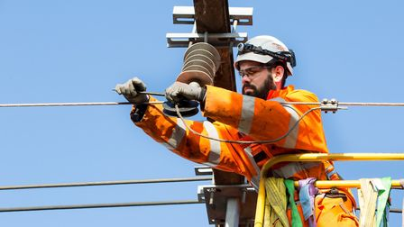 Network Rail engineers will be repairing overhead wires. Photo by Phil Adams