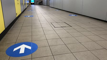 New markings have been put up at Colchester Station. Picture: GREATER ANGLIA