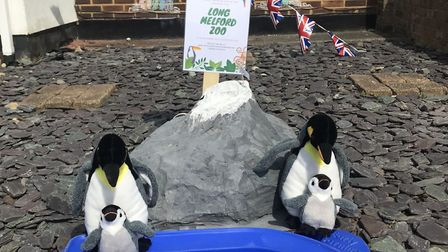 Penguins outside Sarah Bardley's house in Long Melford. Picture: SARAH BRADLEY