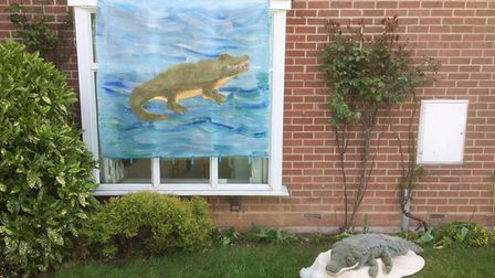 Watch out for the crocodiles outside Chris Tonks' house in Long Melford. Picture: CHRIS TONKS