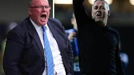 Steve Evans and Paul Lambert clashed earlier in the season. Picture: PA/PAGEPIX