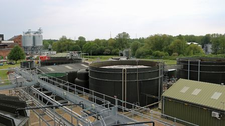 Muntons' anaerobic digester (AD) plant in Stowmarket Picture: ANDY JANES
