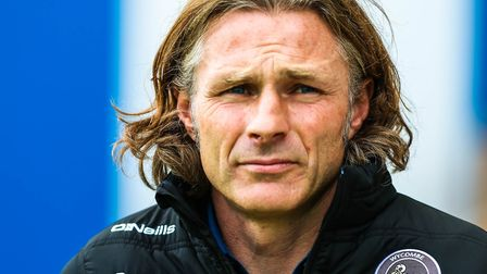 Wycombe Wanderers boss Gareth Ainsworth would see his side jump into third place from eighth. Pictur