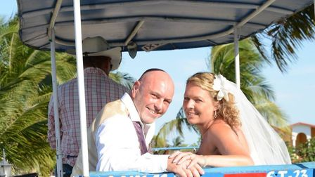 Donna Turner and her husband Scott during their wedding in Cuba back in 2018 Picture: Donna Turner