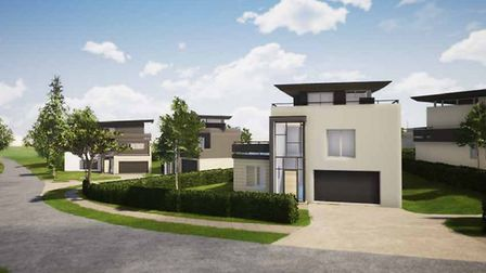 The plans also include a series of homes at the golf club Picture: WINCER KIEVENAAR