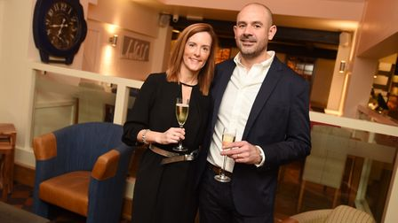 Roxane and David Marjoram who are turning the One Bull in Bury St Edmunds into Vino Gusto wine shop