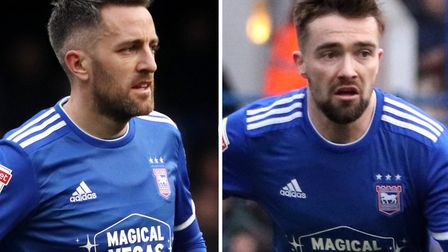 Cole Skuse and Gwion Edwards are both out of contract at the end of June. Picture: ROSS HALLS