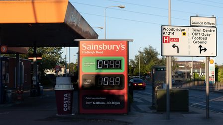 The Sainsbury's garage in Hadleigh Road, Ipswich. Picture: SARAH LUCY BROWN