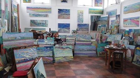 Nigel Dickerson from One Sixth Form College has enjoyed painting in his art studio. Picture: NIGEL D