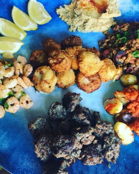 Charlotte Smith-Jarvis's tapas - part of her family's weekly dishes from around the world Picture: C