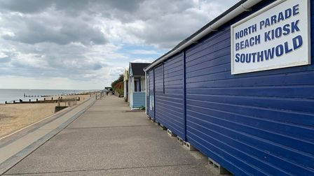 The skies were grey at times throughout Saturday in Suffolk - this was Southwold on Saturday morning