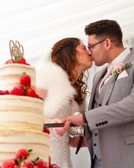 Danny and Rachel Pugh celebrated their wedding a little differently than planned at Glemham Hall on