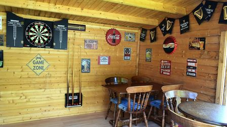 Michael Thoroughgood has created his very own pub in his garden summer house after missing his local