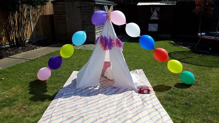 Evie from Ipswich had a unicorn-themed day for her 5th birthday on April 9 Picture: JENNA VAUGHAN