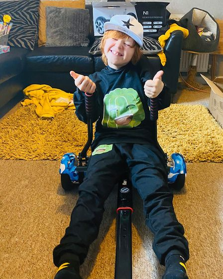 Reo got a hover board and a hover cart for his birthday in the hope of getting him outside as he suf