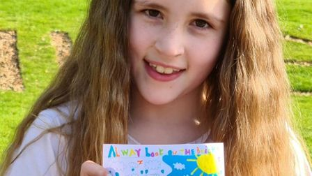 Jazmine Hodding, aged nine, from Ipswich, won the Specsavers postcard competition. Picture: SPECSAVE