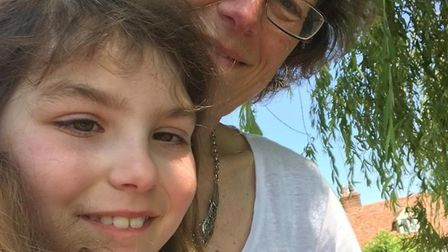 Sally Bramall with her daughter Lizzie who died in November 2018 after suffering from a brain tumour
