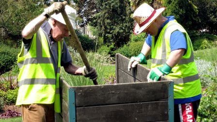 ActivLives volunteers at work in Belle Vue Park Picture: ANDY HOWES