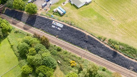 Network Rail has repaired the Foxash embankment near Manningtree. Picture: NETWORK RAIL