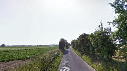 The car left the road close to Stutton Lane in Tattingstone Picture: GOOGLE MAPS