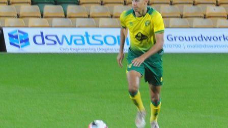 Jonathan Tomkinson on the ball during Norwich City Under-18s' FA Youth Cup third round tie against N