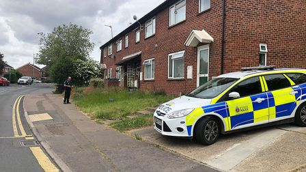 A house in Forest Road has also been cordoned off by police Picture: JAKE FOXFORD
