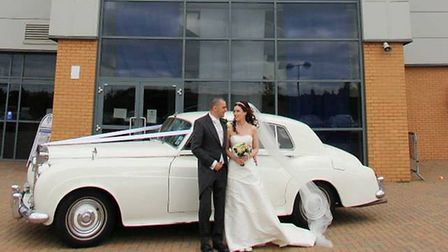 Daniel and Katie Whymark on their wedding day in 2013 Picture: DANIEL WHYMARK