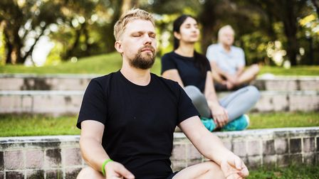Meditation can be done anywhere, including in your garden or at the park Picture: Getty Images
