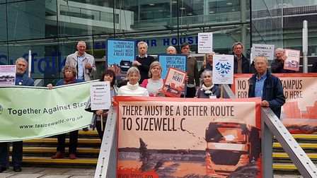 Campaigners say the coronavirus lockdown is not the time for the Sizewell C application PICTURE: RAC