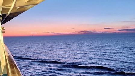 Sailing into the night on a cruise ship Picture: TERRY REVELL