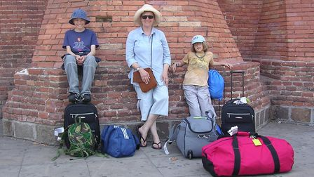 Sam, Helen and India Clarke arrive ready to enjoy all that Menorca has to offer. Andrew spent the ho