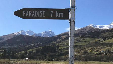 Which way is Paradise? Picture: SIMON WEIR