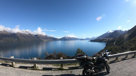 Bennetts Bluff in New Zealand, part of a dream motorbike tour Picture: SIMON WEIR