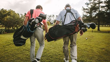 Golf courses are now re-opening but you still have to apply social distancing rules Photo: Getty
