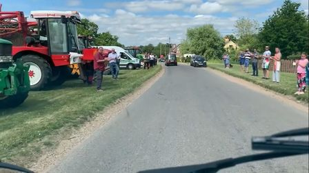 The roads of Hessett were lined with people and tractors as dozens turned out to pay their respects