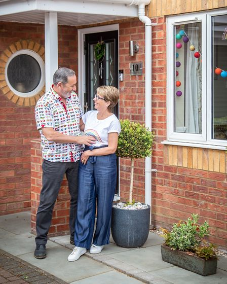 Tracy and Barry also took part in the doorstep portraits project. Picture: BECKIE EGAN
