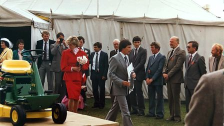 Paul Tuckwell in front of Princess Diana at the Suffolk Show in 1986 Picture: TUCKWELLS