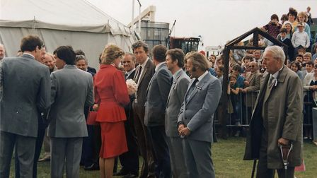 Princess Diana being introduced to Tuckwells employees Picture: TUCKWELLS